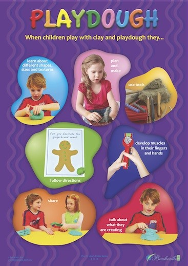 Play to Learn Posters Playdough - Educational Resources